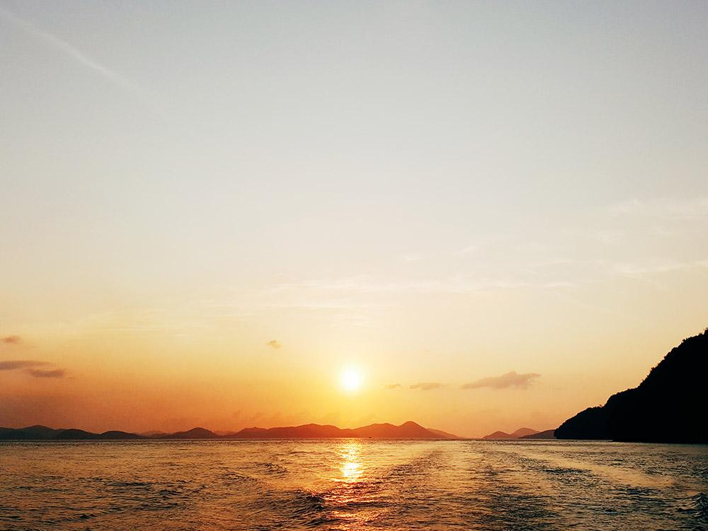 Boatride sunset