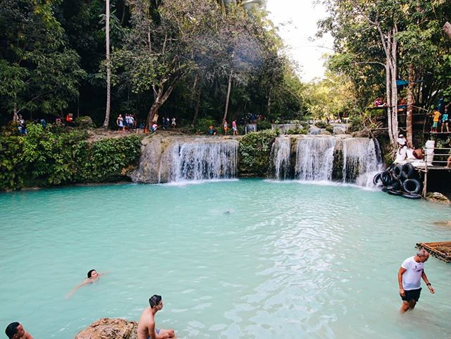 Holy Week playground. The entrance to these falls in Siquijor is totally free!!! More on the blog soon. . . . Use #sunkissedsomewhere on your travel photos to get featured ☀️ . . . #wanderlust #travel #girlslovetravel #travellife #digitalnomad #travelporn #travelandlife #traveladdict #travelbug #travelpic #traveldiary #travelpostdaily #instavacations #travelgram #travelblogger #travelvlogger #travelersnotebook #travelphotography #backpacker #hostel #hostellife #backpacking