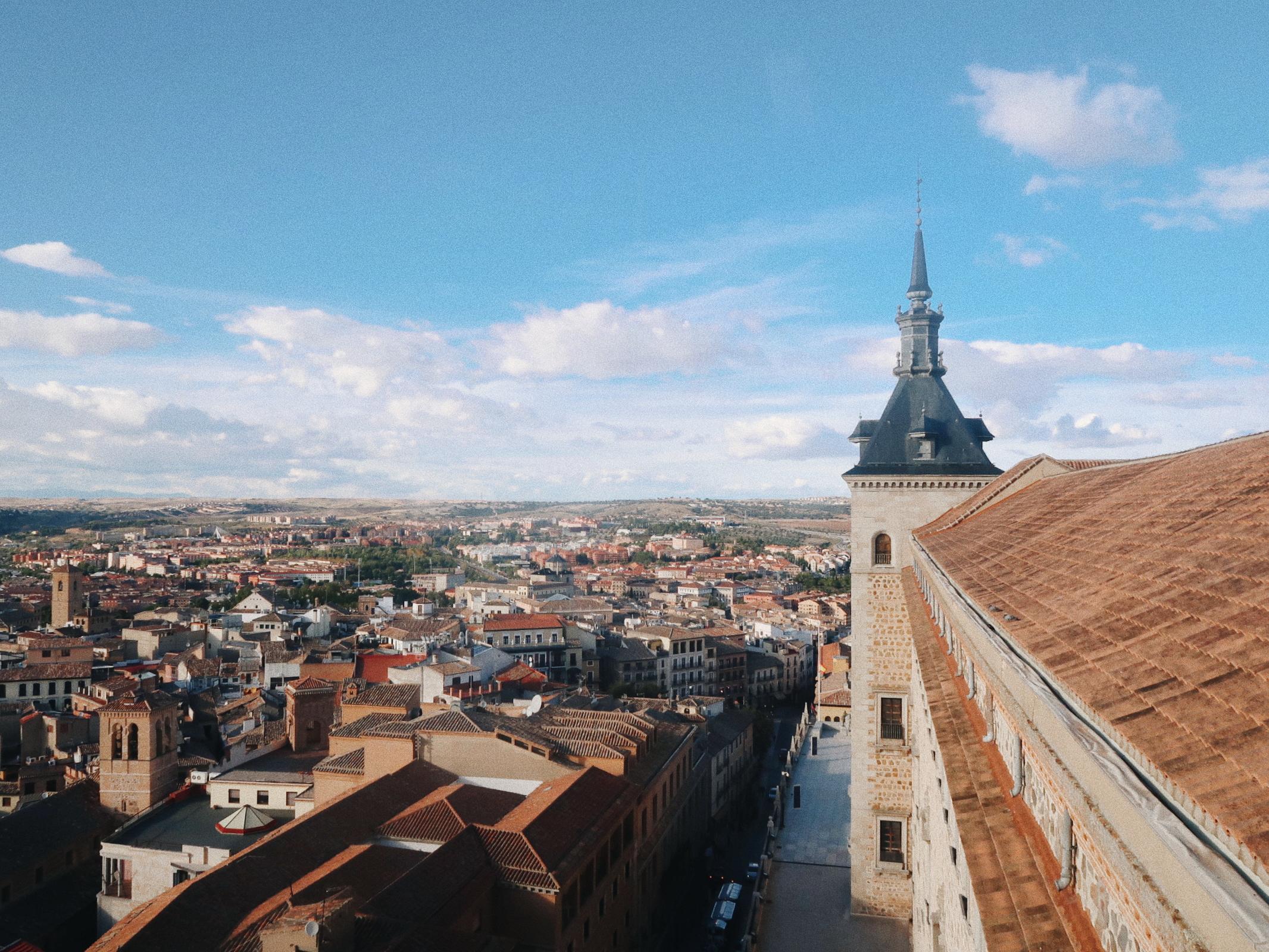 View from Planta C of Alcazar de Toledo