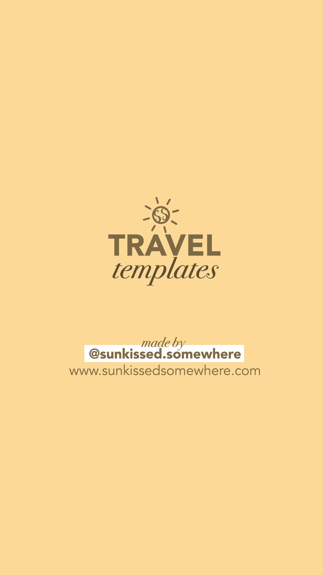 FREE Travel-inspired Instagram Story Template