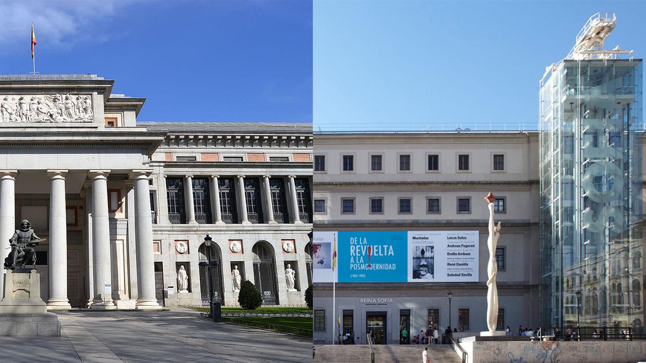 Museo del Prado and the Reina Sofia Museum