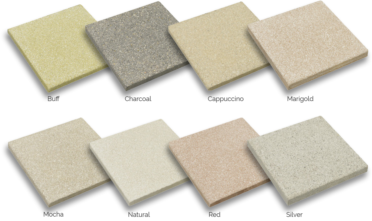 Paving Colours & Sizes -