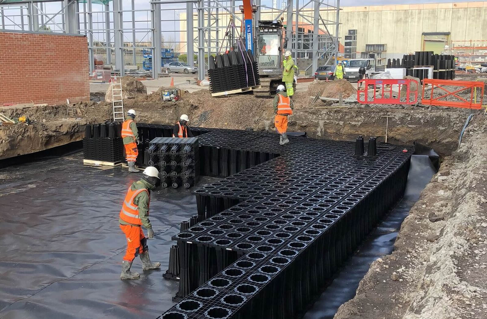 Drainage Systems  - ✓  Foul & Surface Water✓  Deep Drainage & Culverts✓  Stormwater Attenuation✓  Land Drains✓  Utility Connections✓  Interceptors