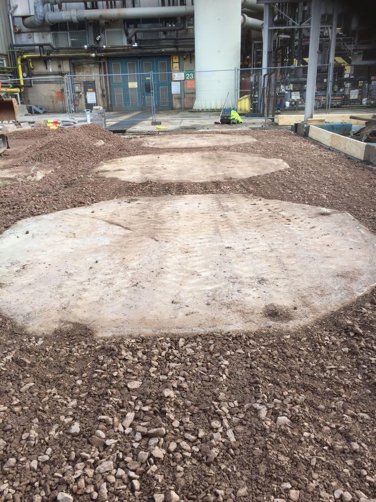 Stoning Up Around Existing Pads 3.JPG