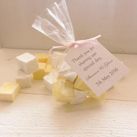Wedding Favours - Give your wedding guests a little treat and a thank you with a delicious edible favour. We have loads to choose from,Whether you fancy Marshmallows, Biscuits, Macarons, Cake Pops (like lollipops but made from cake!), chocolate, or a mixture they're all are home made.
