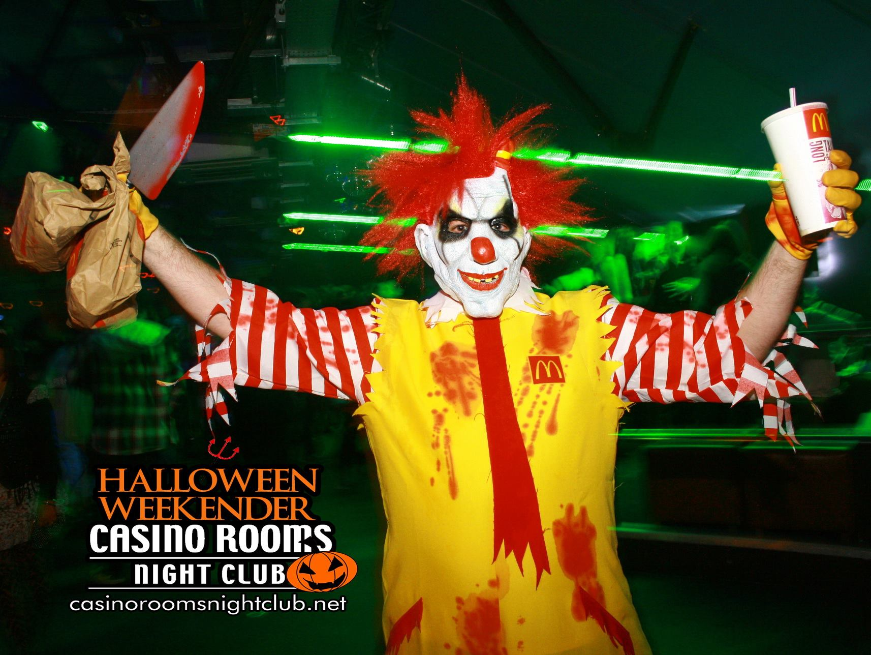 Getting dressed up is all part of the fun at The UK's Premier Halloween Clubbing Experience! See these awesome photos from previous years to get ideas for YOUR Fancy Dress! FRIDAY 26th & SATURDAY 27th October 2018 A whole weekend of horrific goings on & scary surprises that will leave you needing therapy for years to come...