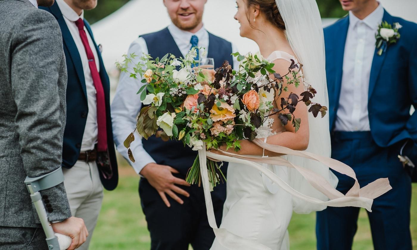 Natural wedding flowers Cheshire