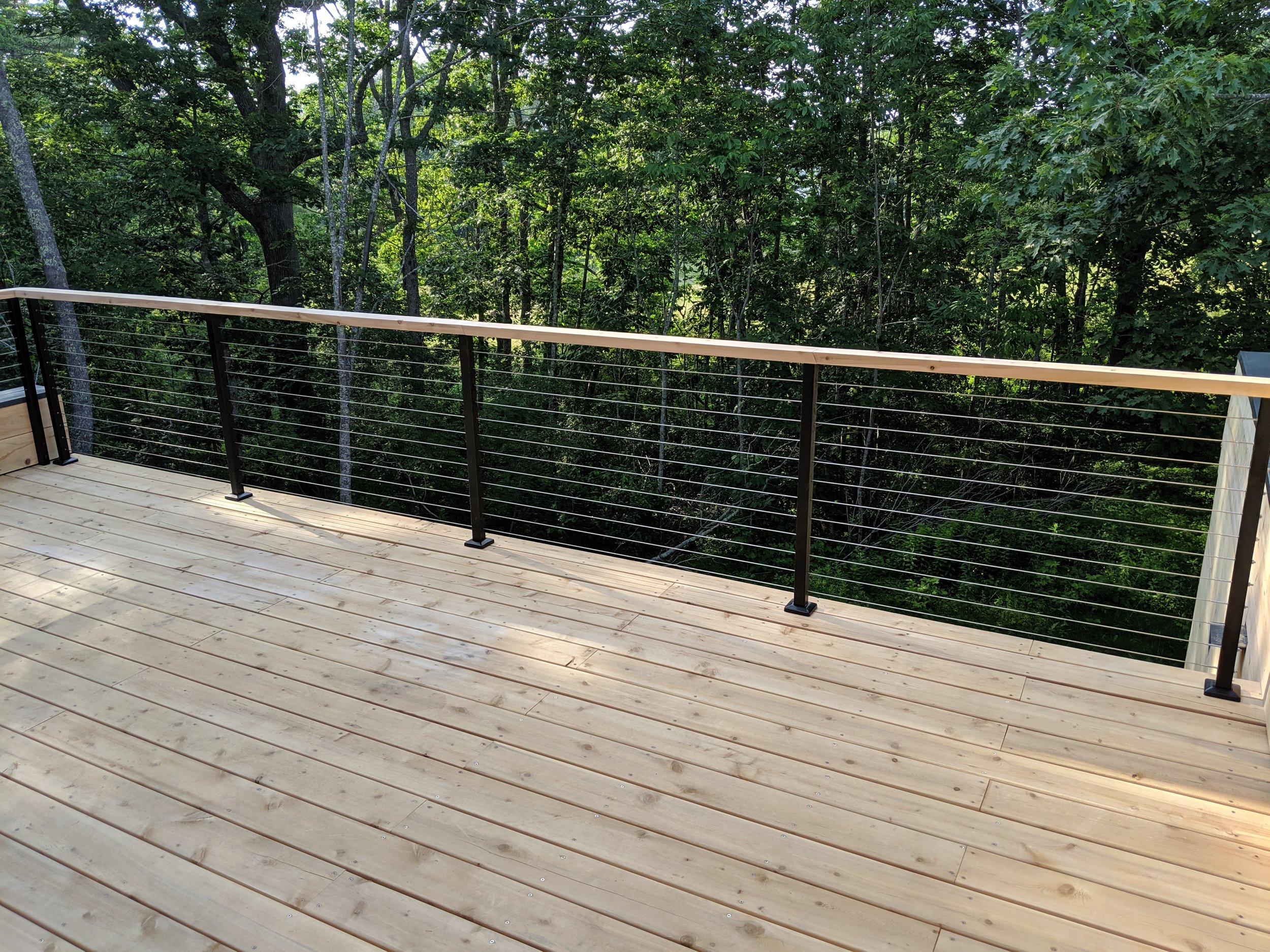 Cable Rail on Cedar Deck