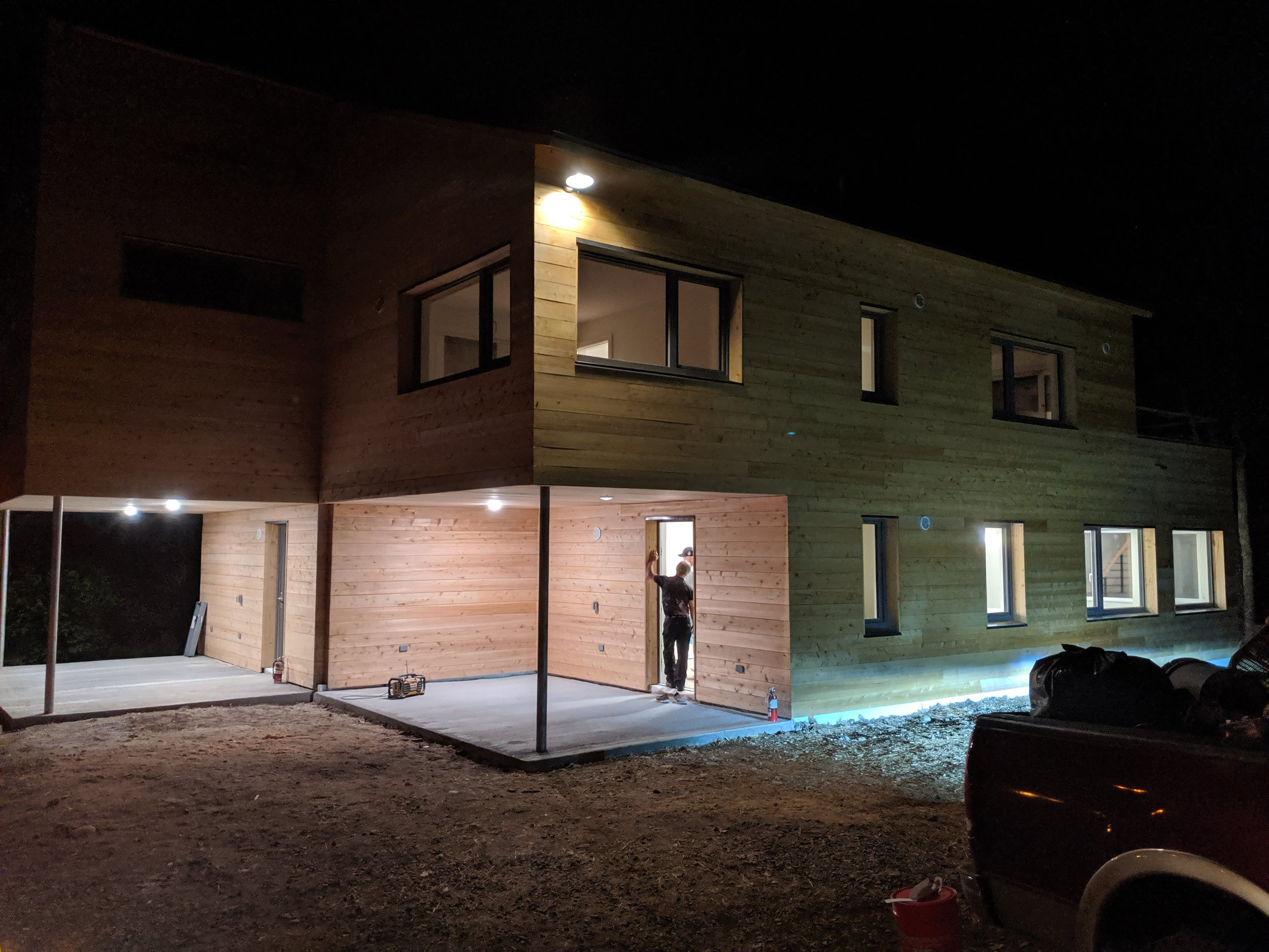 Maine Passive House Exterior Living Space