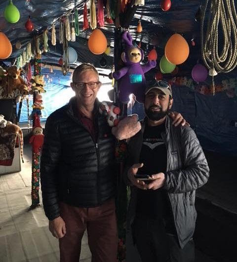 A Pakistani cafe in the Jungle camp, Calais