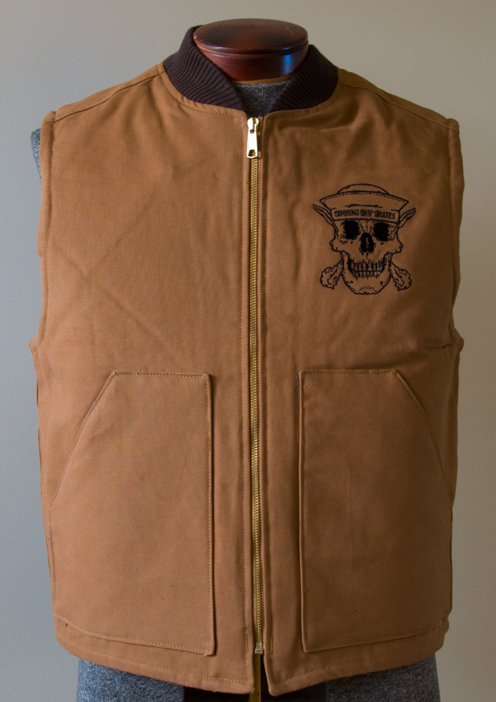 Embroidered Work Vest | Sinking Ship | Lethbridge, AB