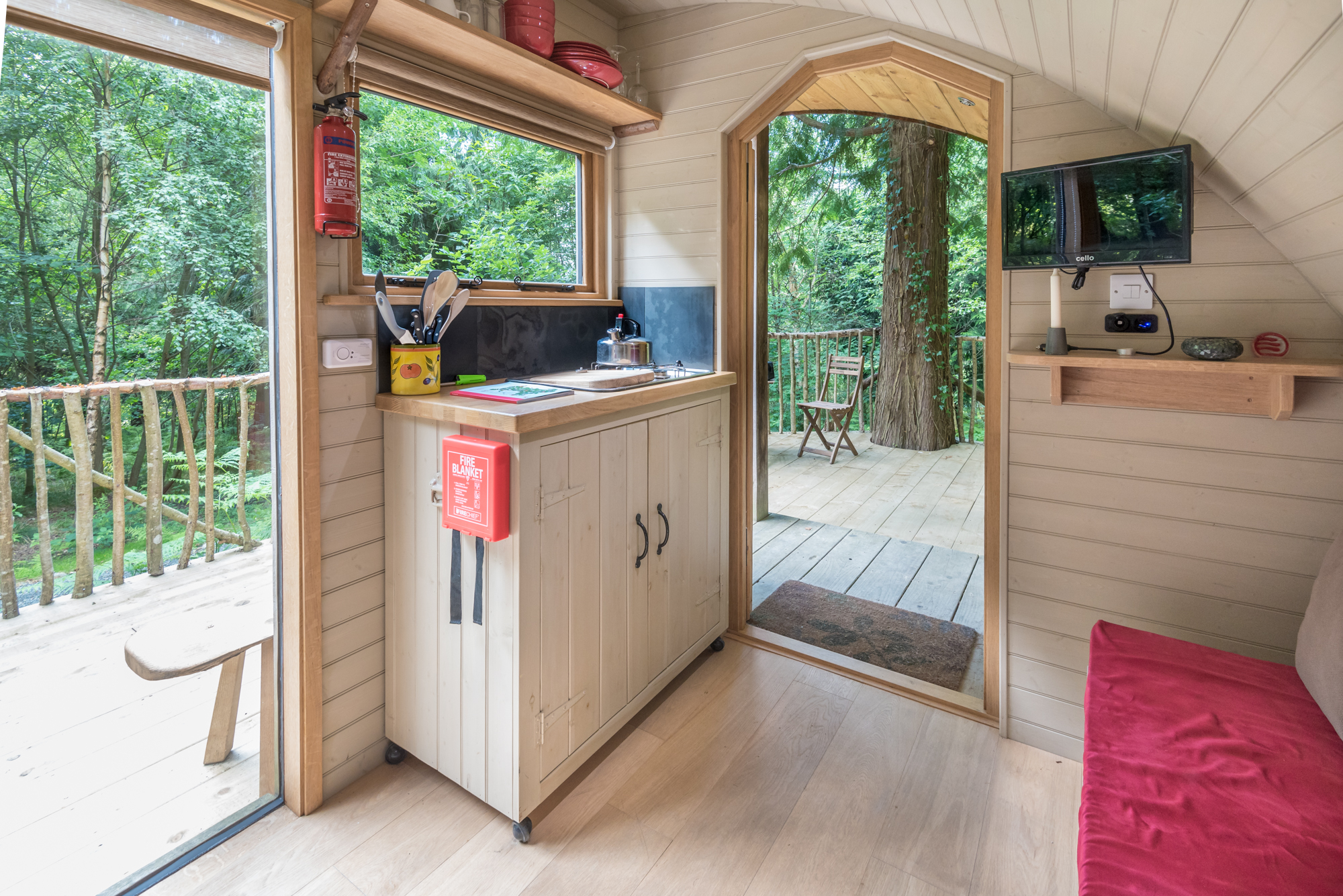 glamping pod kitchen