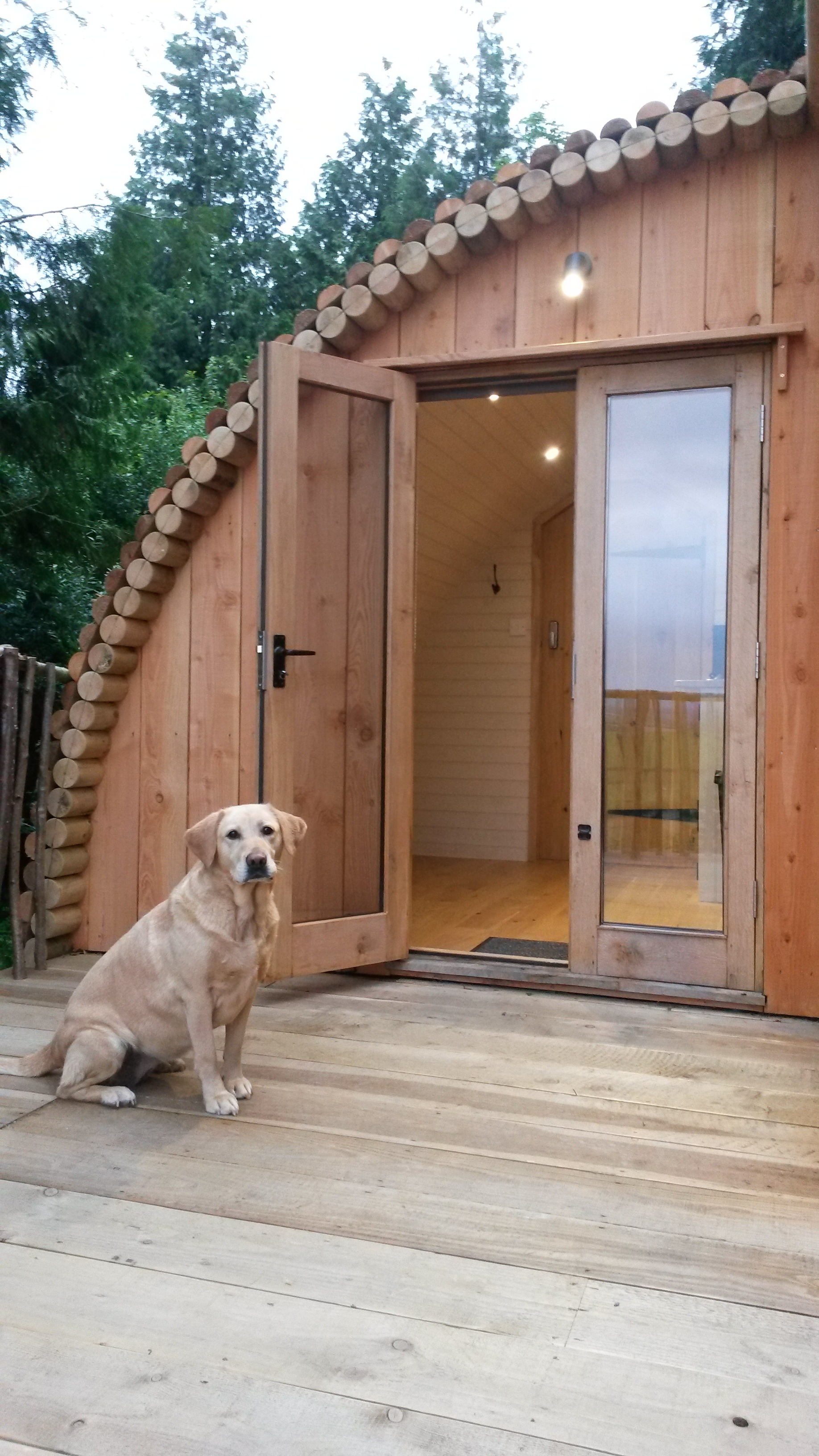 glamping pod with toilet