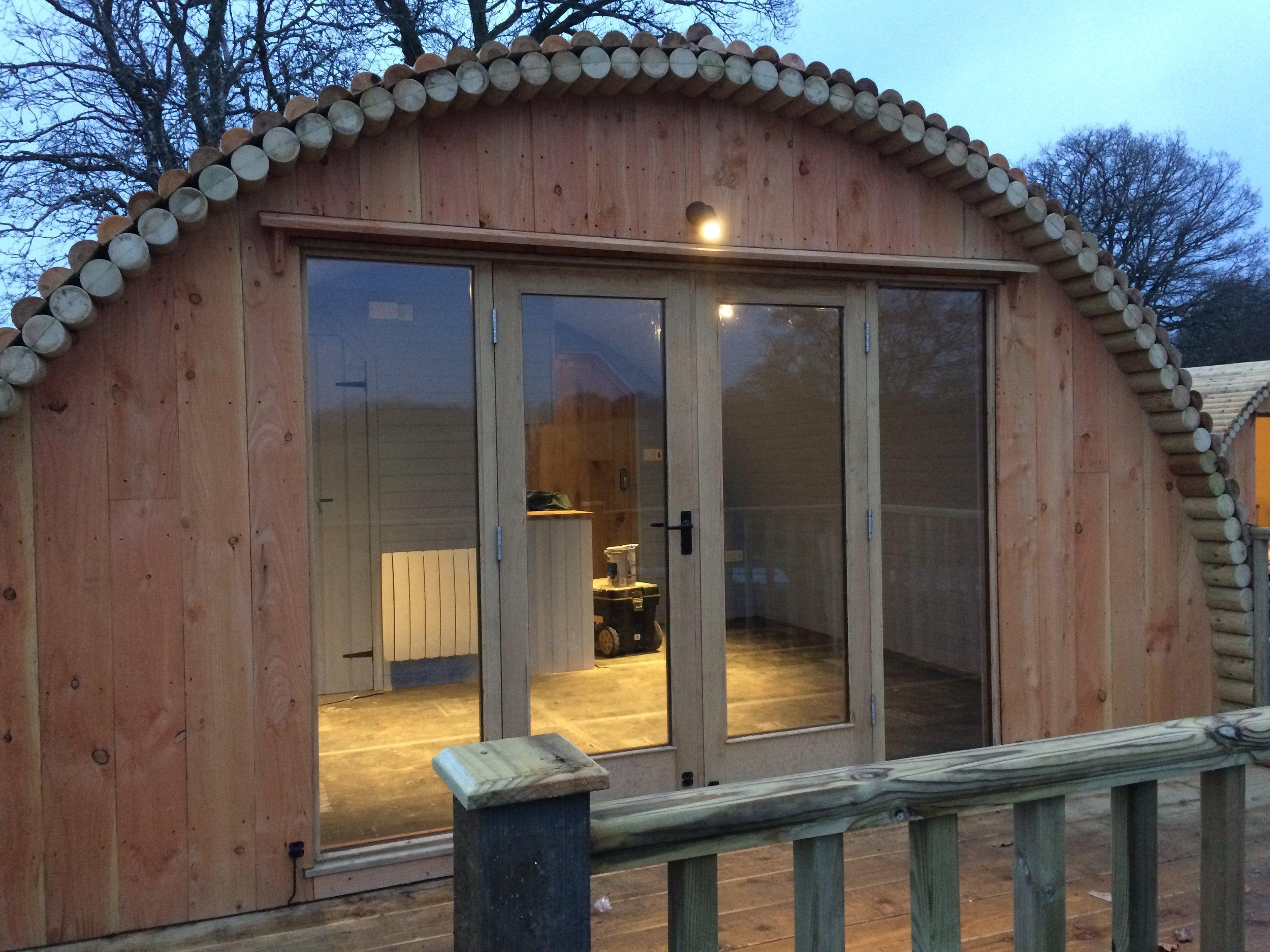 log cabin garden office Wales
