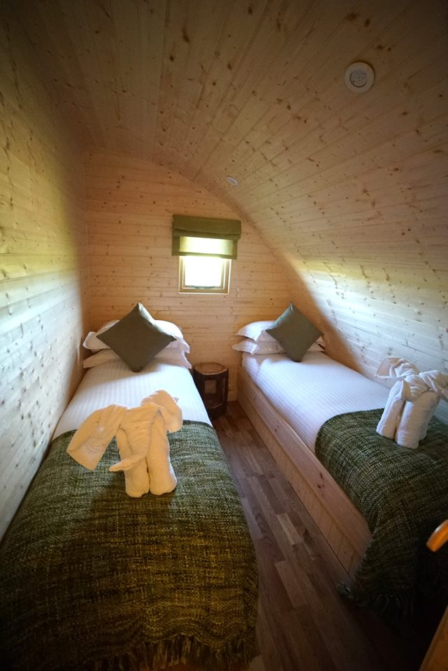 glamping pods with bedrooms