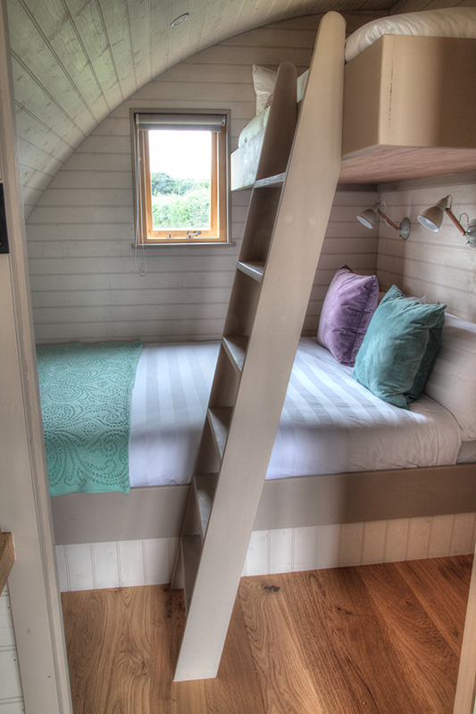 glamping pod with bunk beds