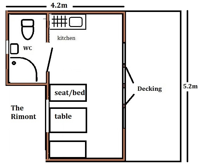 small glamping pod with shower room and toilet