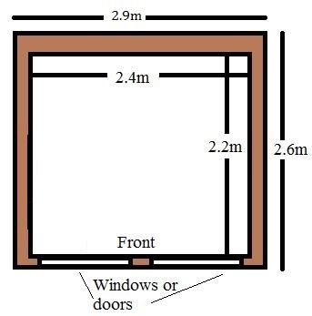 small wood garden room office for sale uk