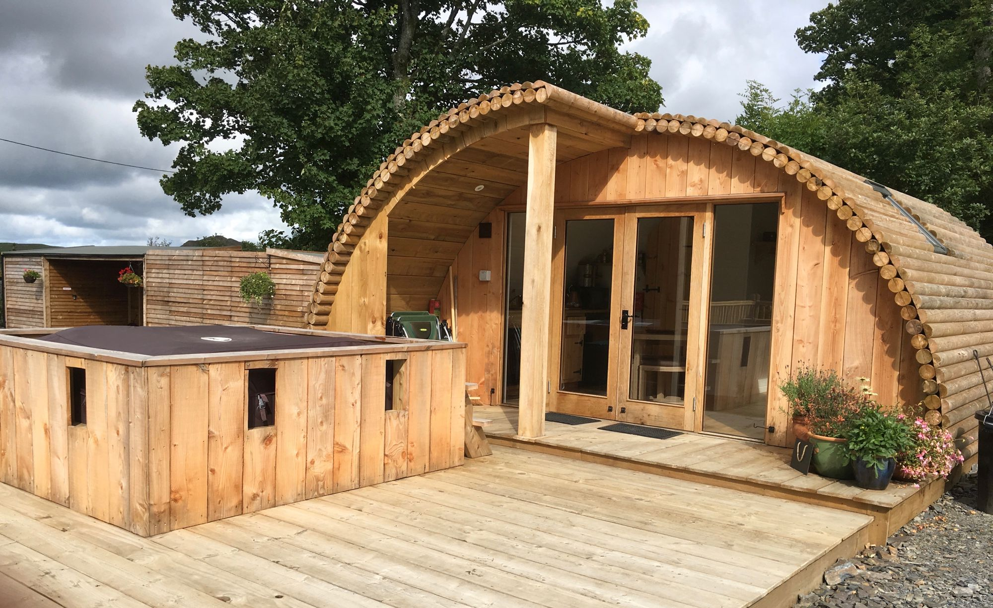 Glamping cabin near Devils Bridge