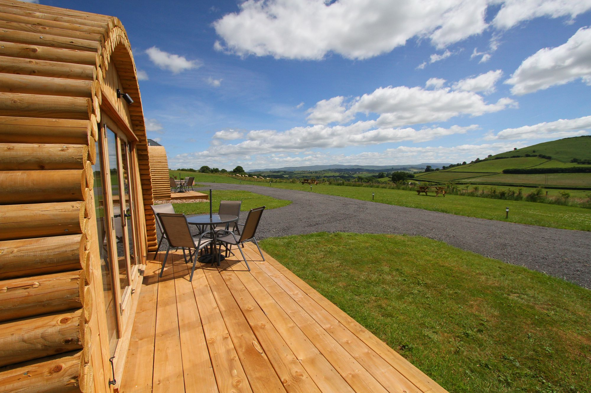 Glamping park overlooking the Brecon Beacons National Park