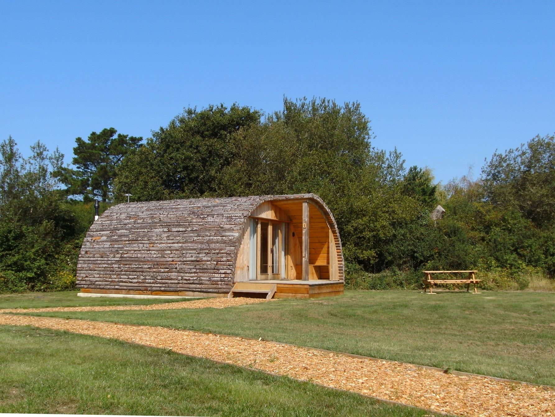 Glamping cabins on the Isle of Wight