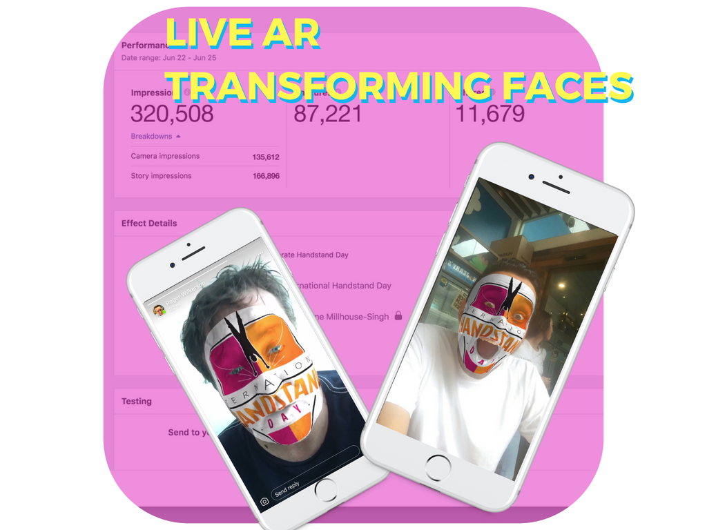 Live Augmented Reality (AR) Face Filters