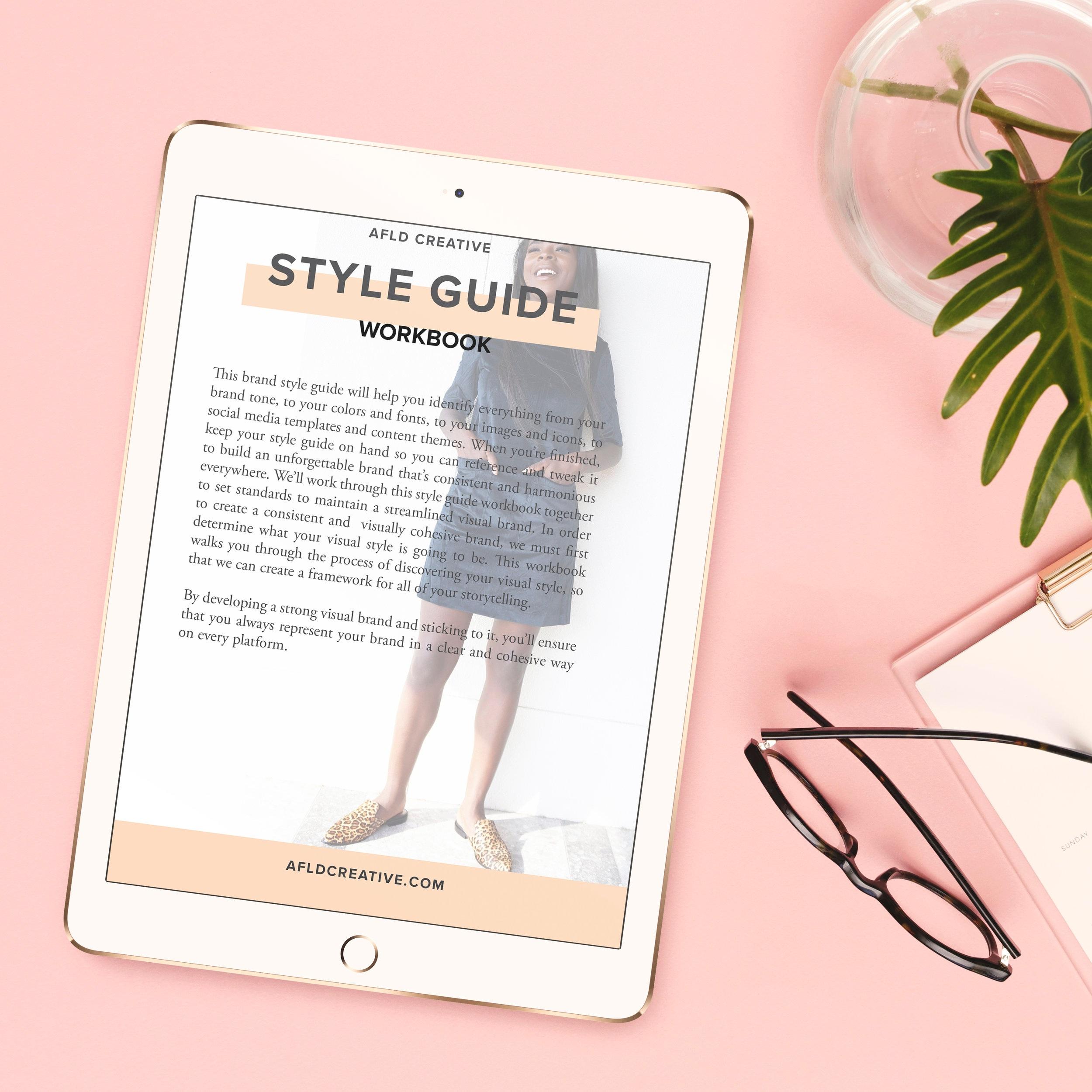 AFLD Creative Studio Brand Style Guide Workbook