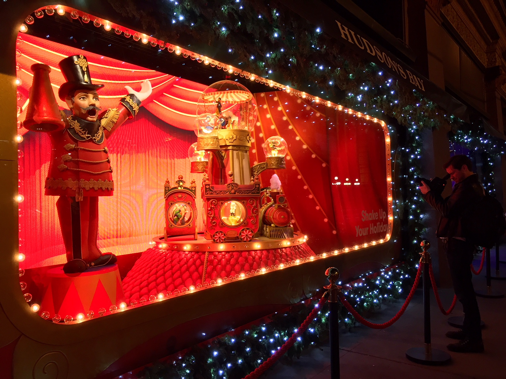 The Hudson's Bay and Saks Fifth Avenue holiday windows downtown Toronto are a spectacle for the Christmas season. (Photo: Regina Dickson/CanCulture)