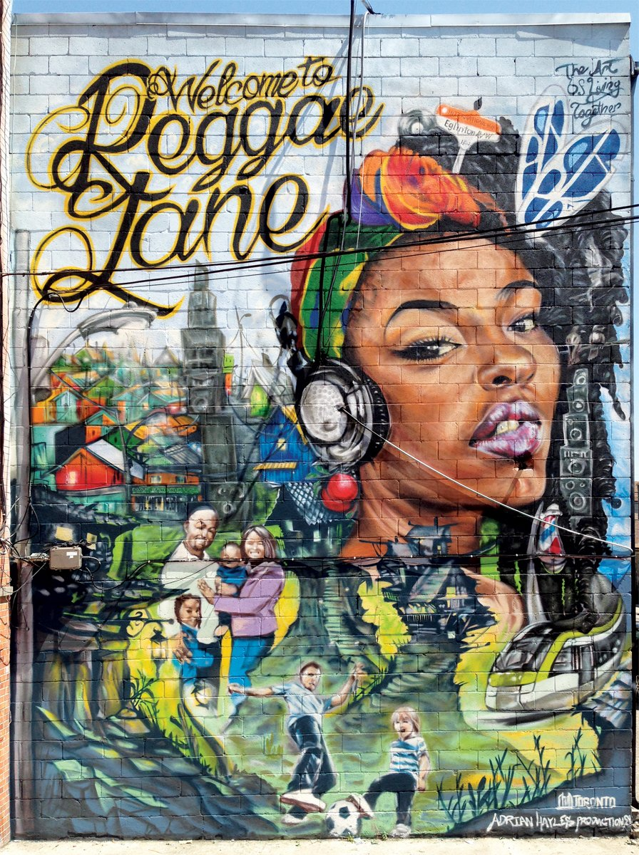 Adrian Hayles' Reggae Lane Mural at Eglinton and Oakwood.. (via  Adrian Hayles )