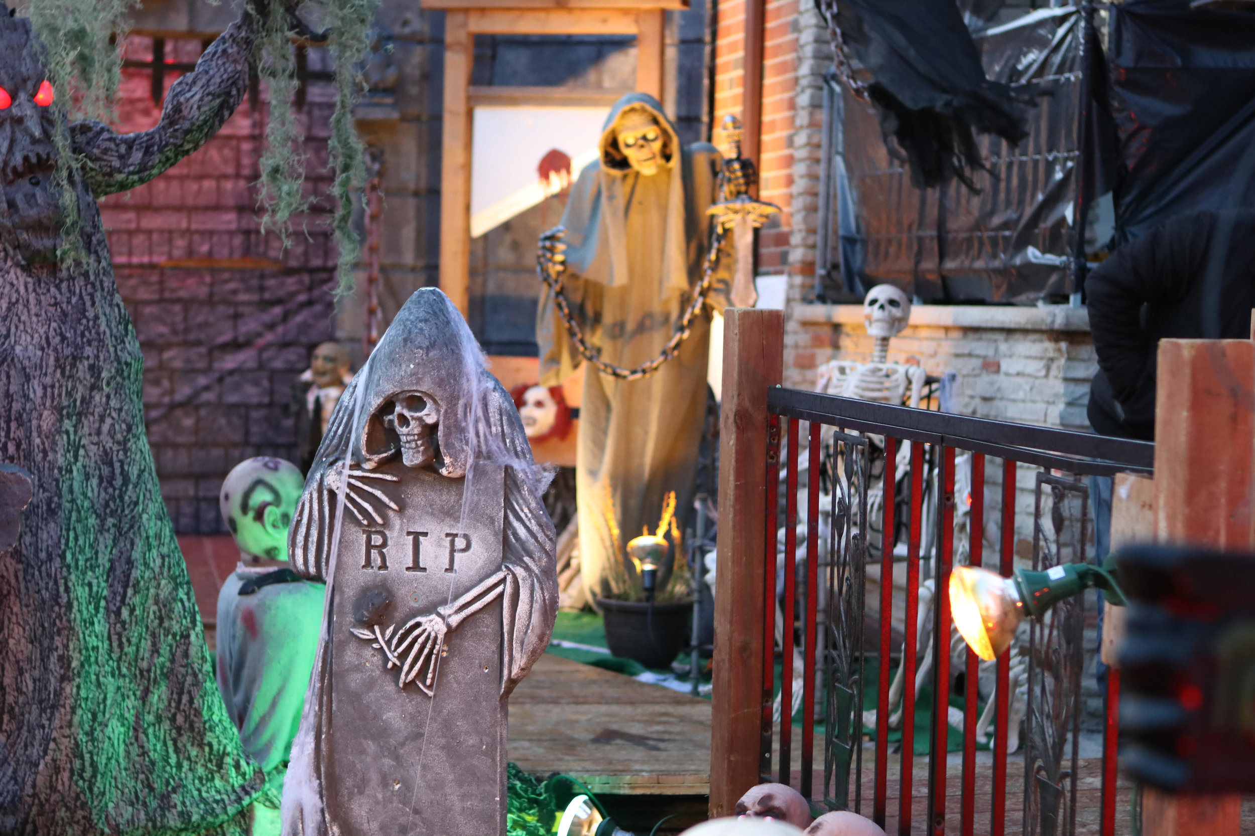 Phillips and Scarsella's Toronto house, decorated for Halloween night. Located at 10 Navenby Cres., in Toronto. (Photo: Sydney Brasil)