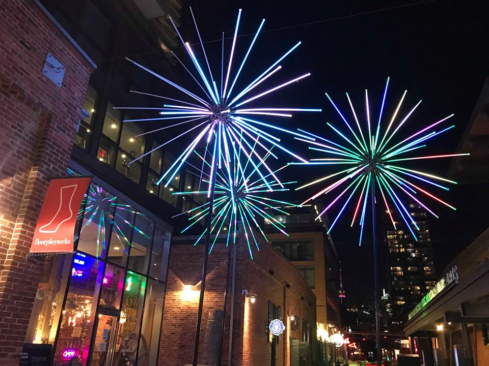 The striking lights glow and catch your eye as soon as you walk through the entrance. (CanCulture/Mariah Siddiqui)