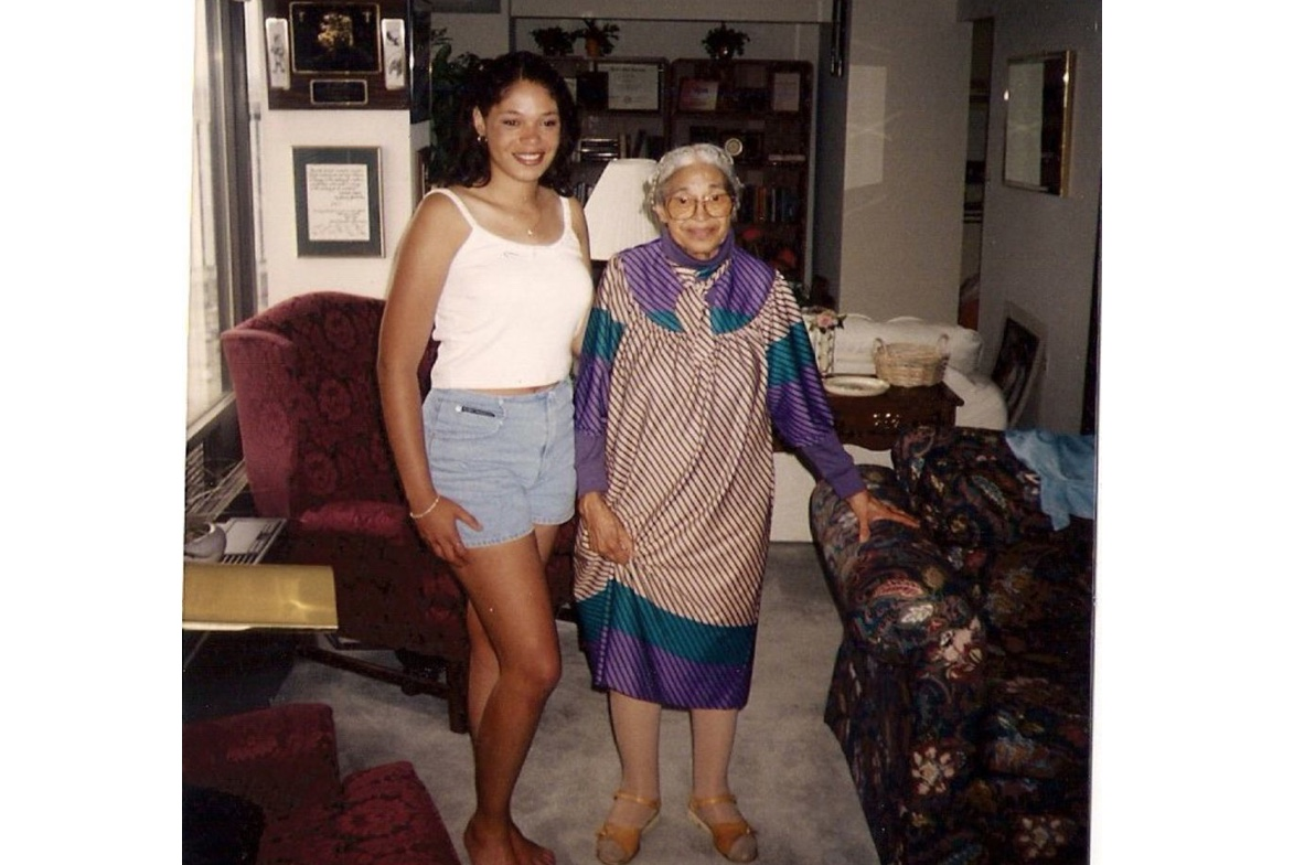Rosa Parks and her niece, Urana McCauley