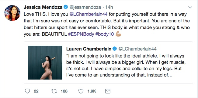 From Jessica Mendoza's Twitter feed