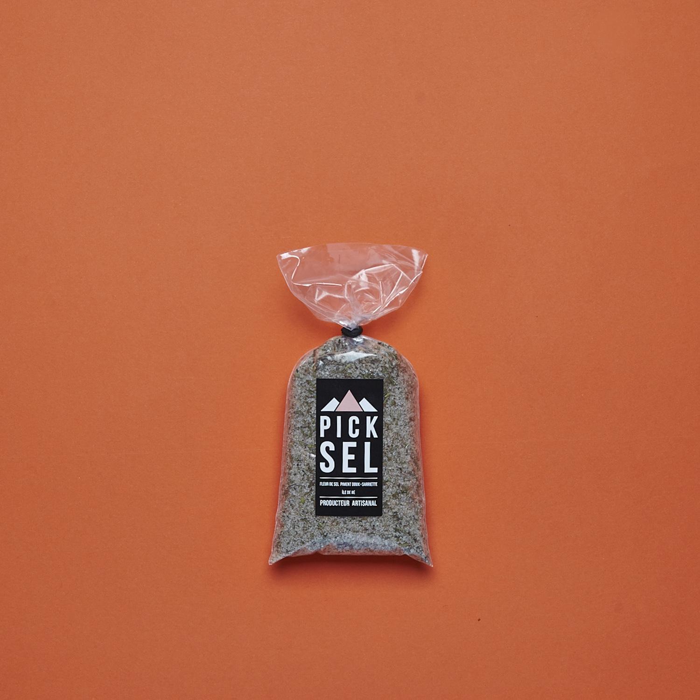picksel-producteurartisanal-iledere-lacouarde-sachet-200g-fleurdesel-aromatise-pimentdoux-sarriette-cuisine-sauce-salade.jpg