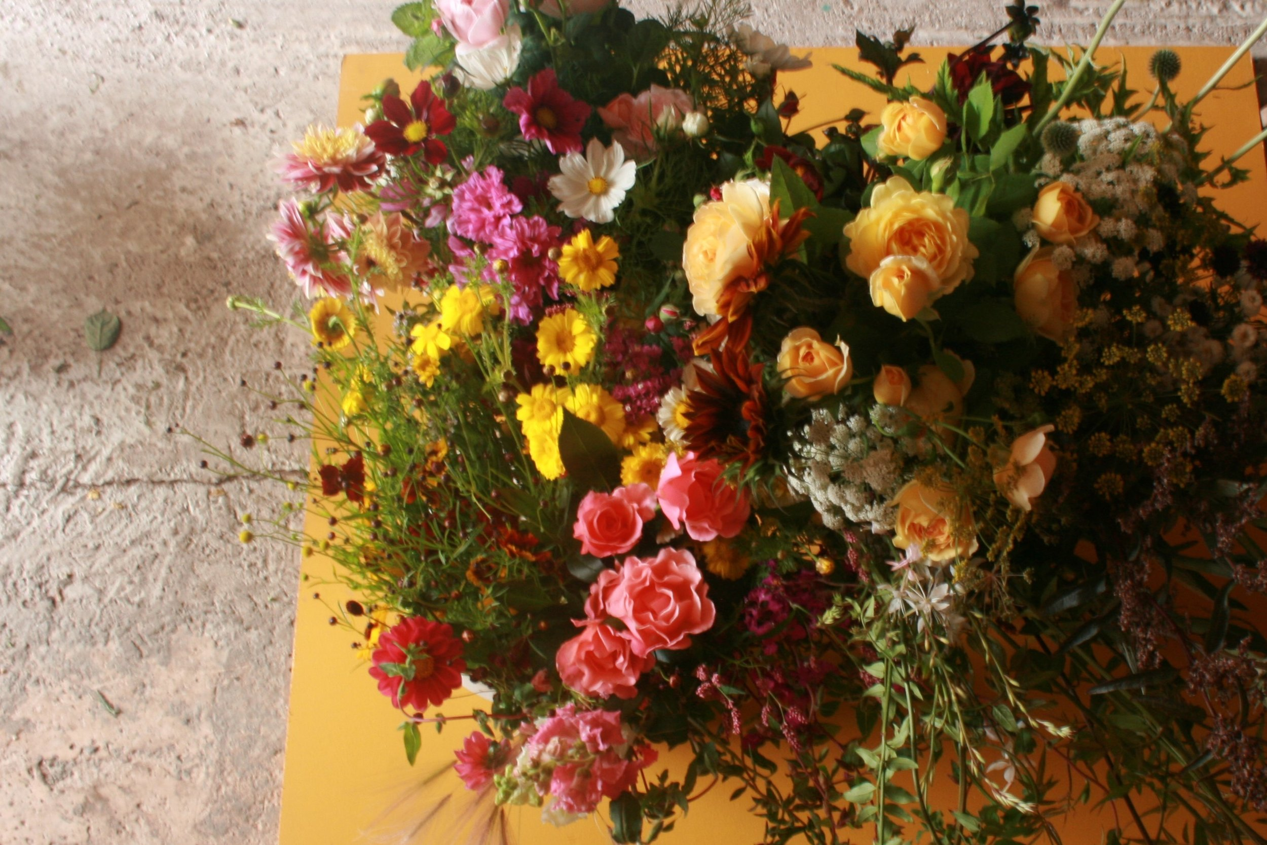 Two buckets of flowers that meet the quality criteria