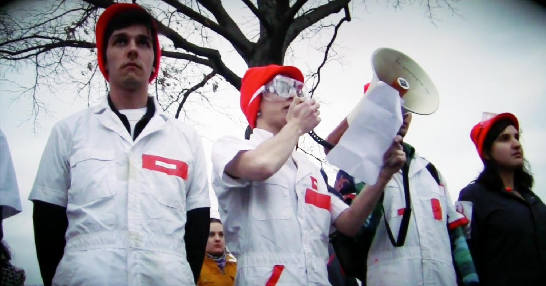 Documentary video still (edited by Jon Butler, 2012).