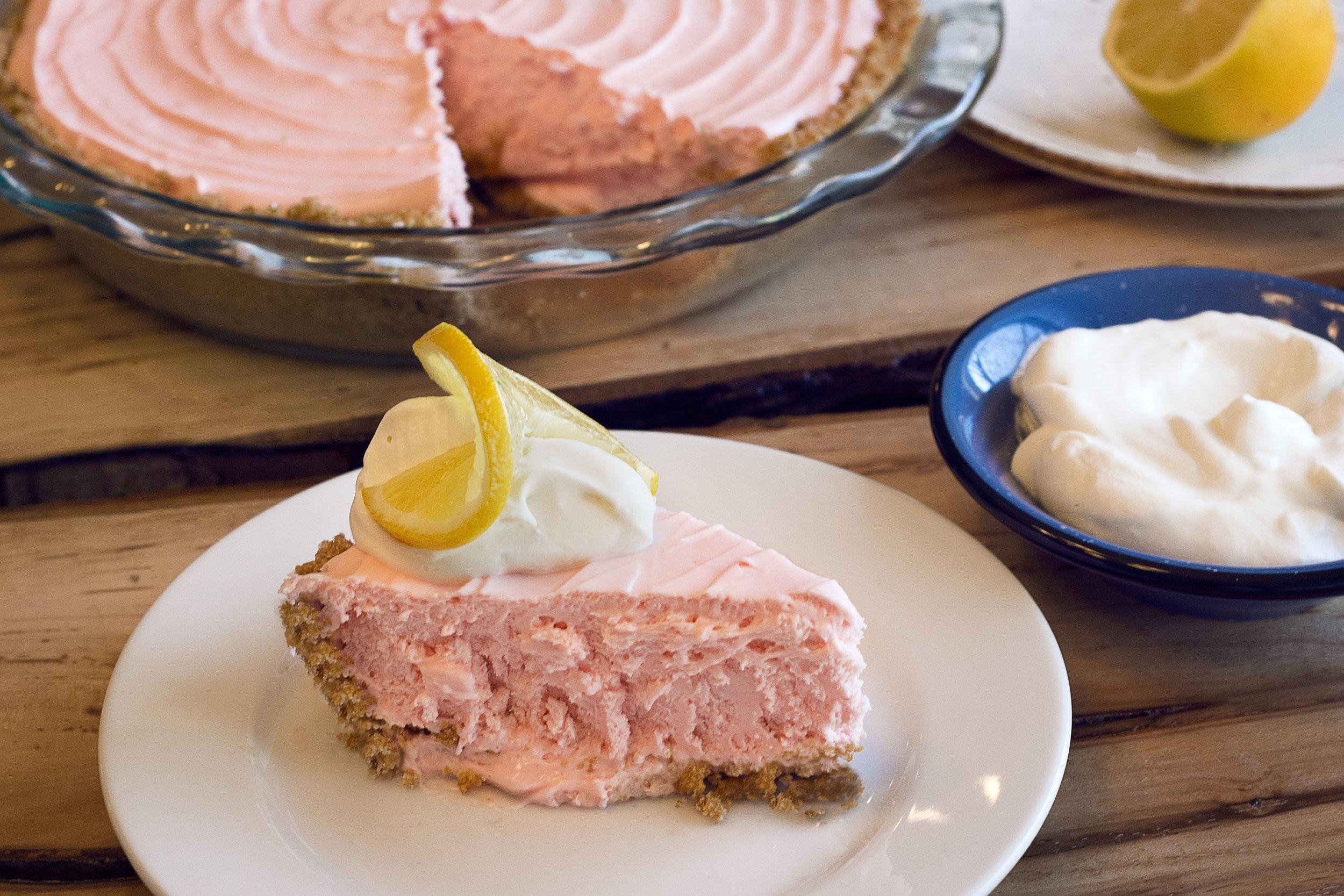 Clover's Pink Lemonade Pie