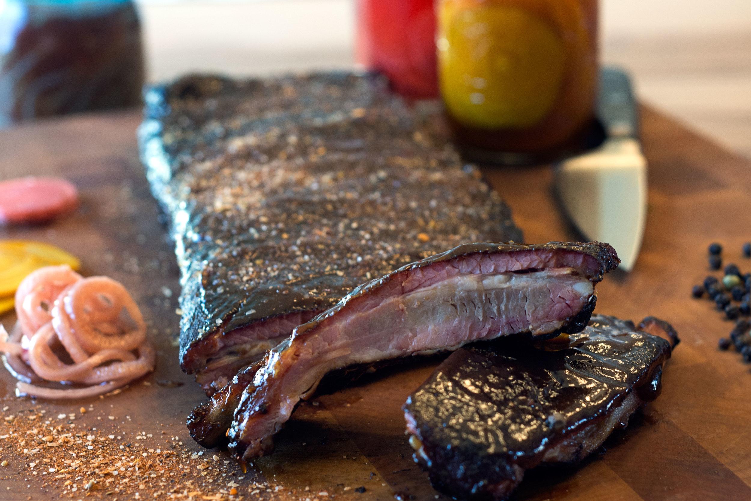 Pork ribs with housemade sauce