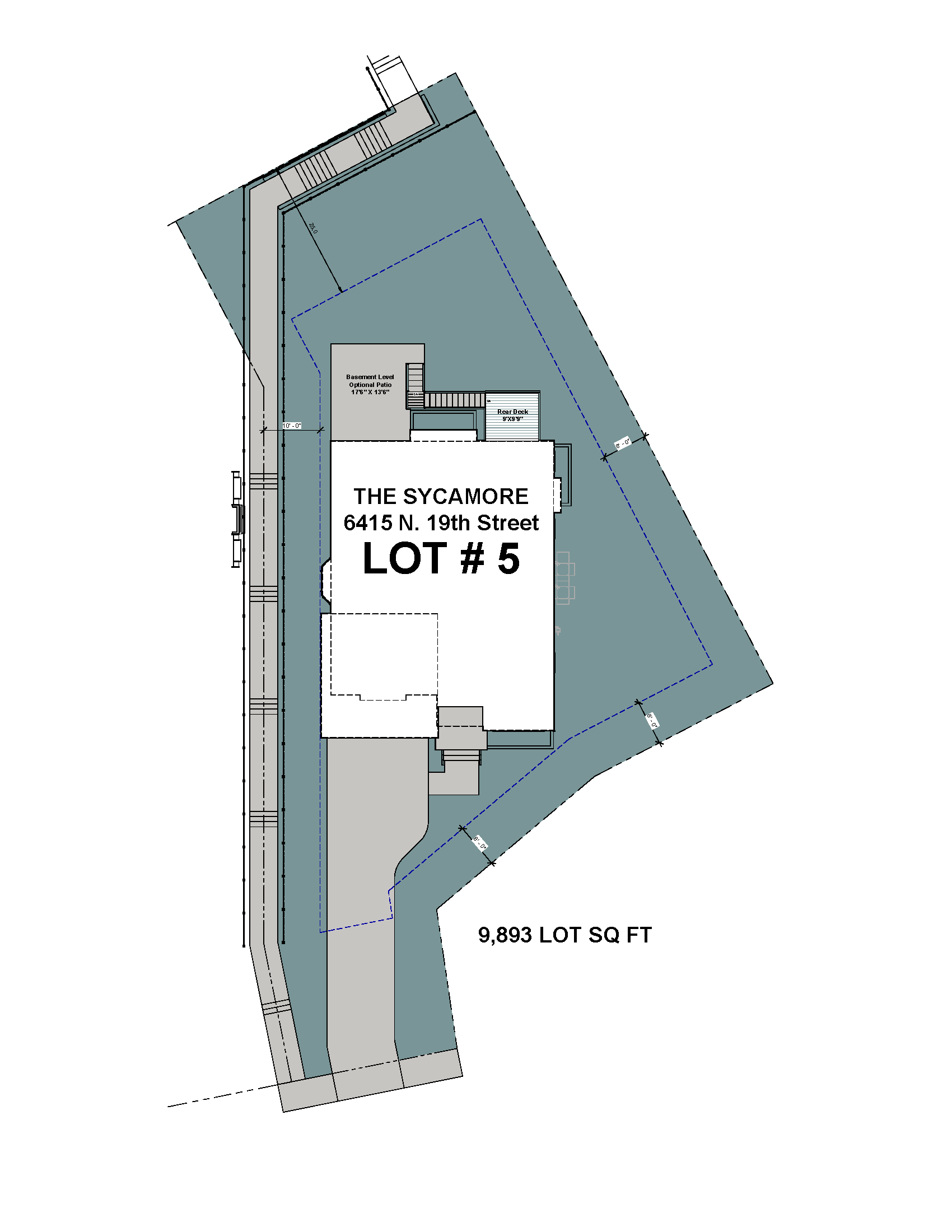 Lot 5 Site Plan-6415 N 19th Street-The Sycamore Model.png
