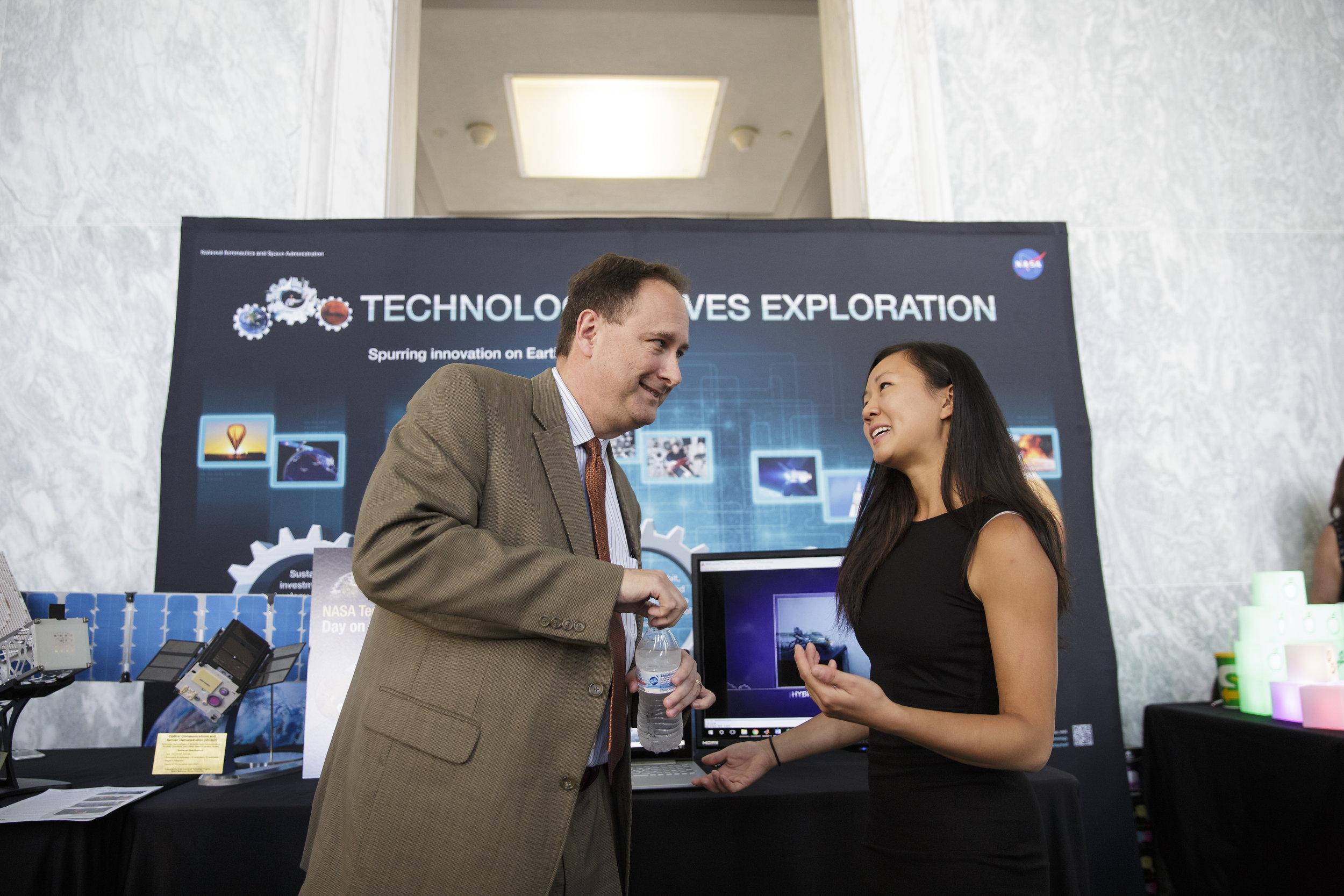 Talking to the acting administrator of NASA, Rob Lightfoot, at NASA Technology Day at the Hill 2017