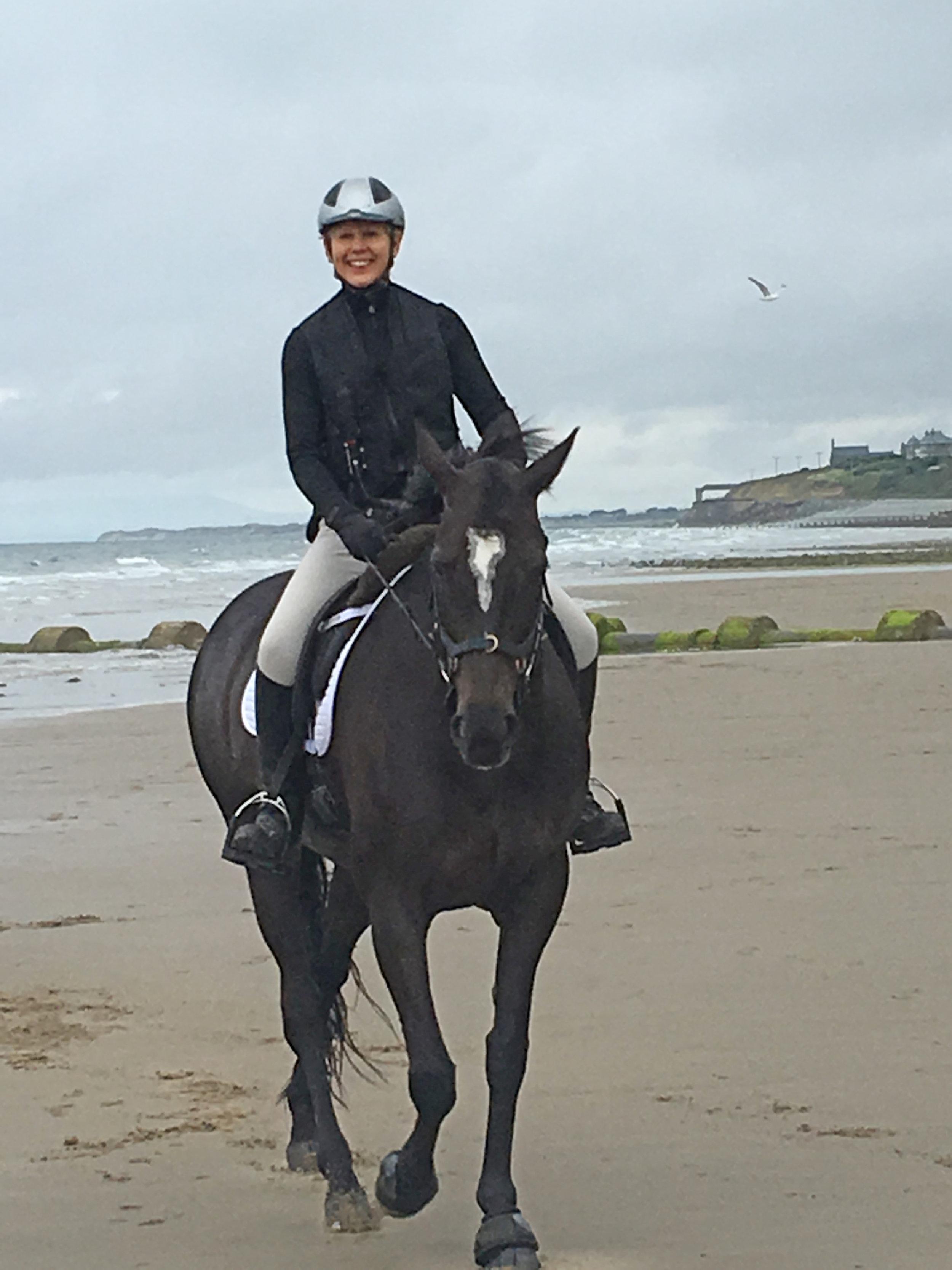 Sarah Parry Jones riding Bella