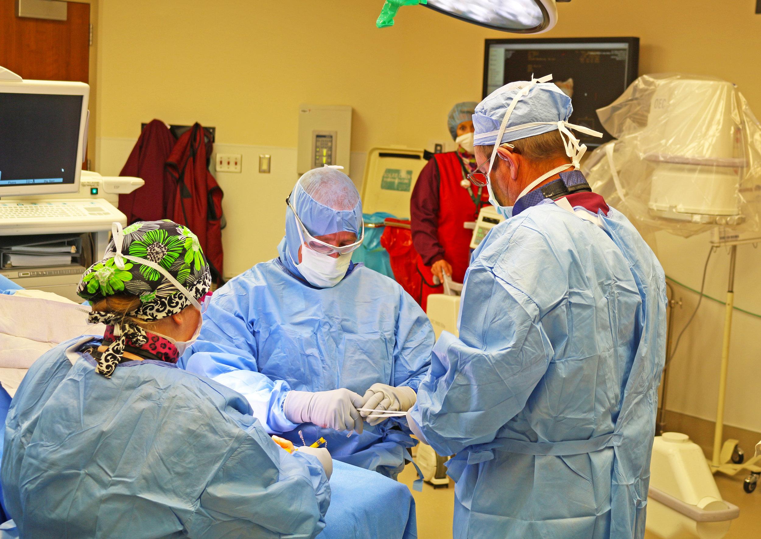 Associates prepare for surgery at St. James Healthcare