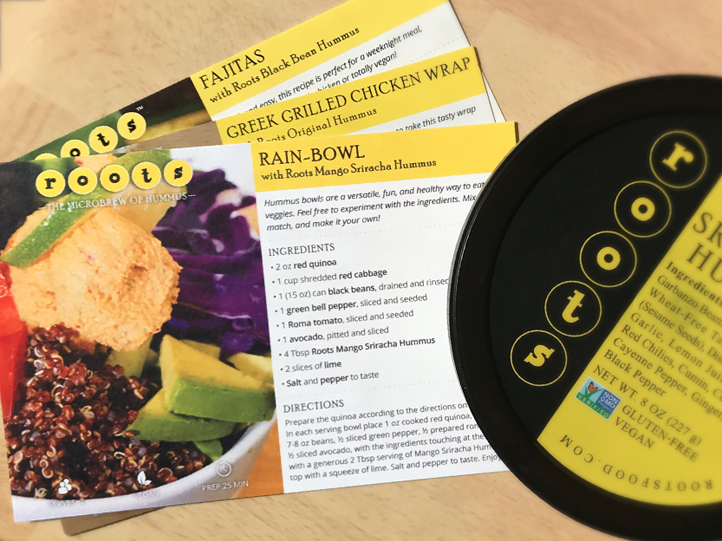 Roots Hummus - Recipe Cards