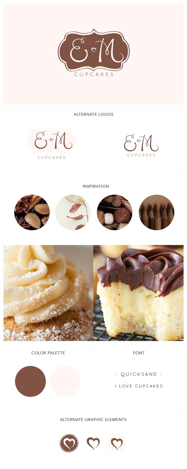 EM Cupcakes - branding_identity design