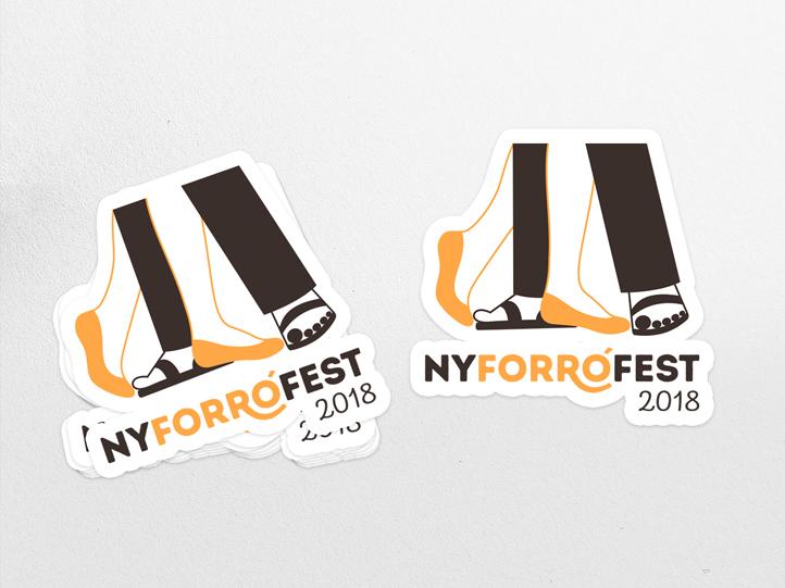 New York Forro Festival 2018 Stickers