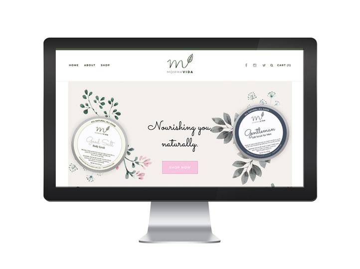Momma Vida Squarespace Website