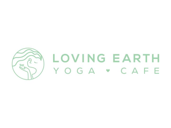 Loving Earth Yoga Cafe Horizontal Logo