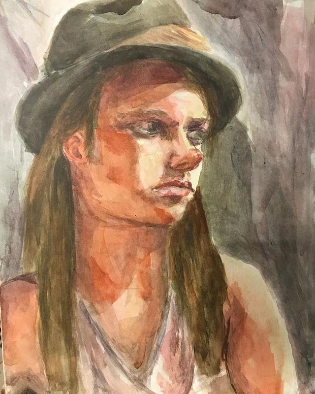 #watercolor #portrait 🌞
