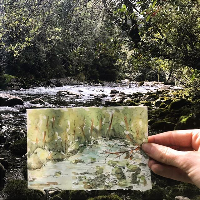 🎨🌿 . . . . #watercolor #travelingartist #hike #newzealand #getoutside #instaart #artistsoninstagram
