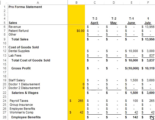 Pro Forma Statement - The Pro Forma statement will help you figure out costs and revenues going into the future.  The attachment is for a start-up operation.